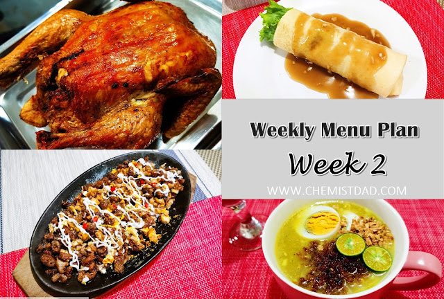 home, home and living, cooking, weekly menu plan, weekly menu, food, home cooked meals, homecookedmealsph