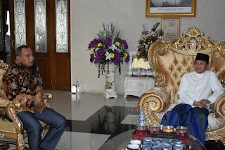 Gubernur Jambi Menerima Kedatangan Danrem GAPU Jambi Silahturahmi Idul  Dan Kapolda Jambi