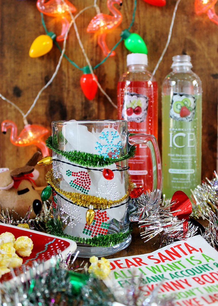 #BeNotBland this holiday season with Zero Calorie Sparkling ICE (in 15 flavors)and the Ugly Sweater Mocktail  #AD