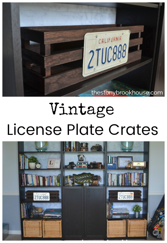 Vintage License Plate Crates