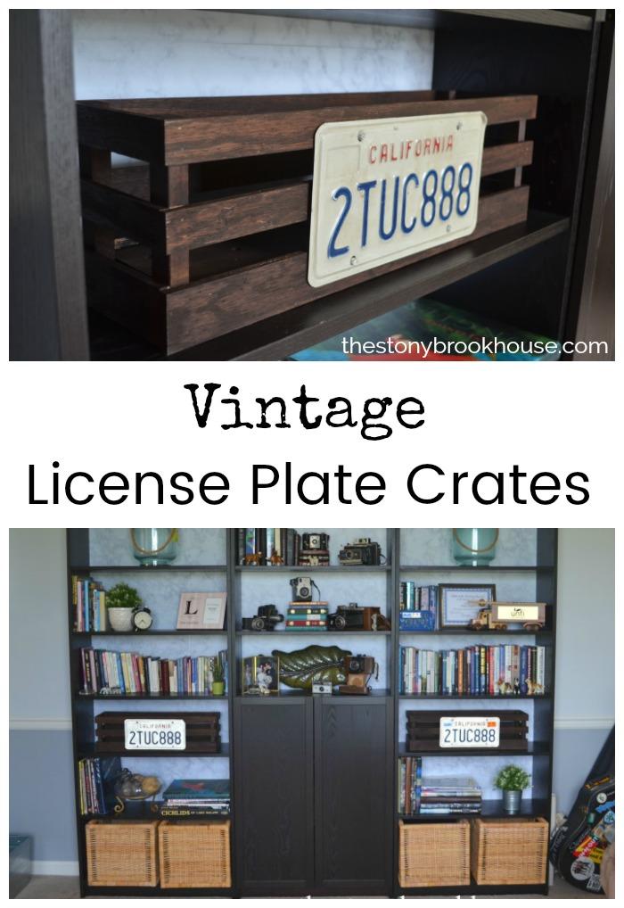 Vintage License Plate Crates