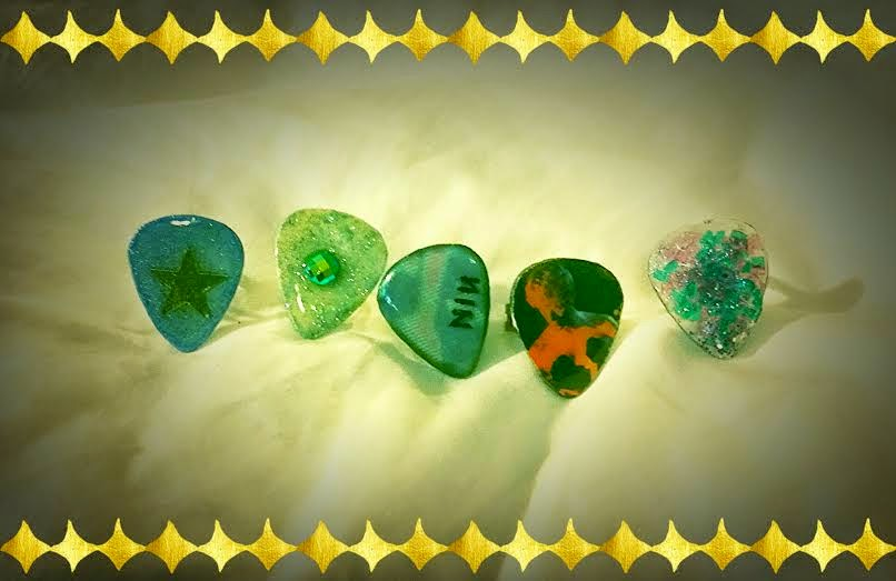 Guitar Pick Rings