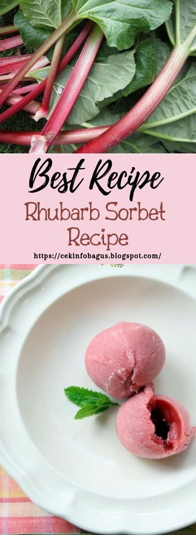 Rhubarb Sorbet Recipe #healthyfood #dietketo #breakfast #food