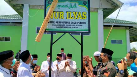 Bupati Pesisir Selatan Resmikan Masjid Nur Ilyas Sago