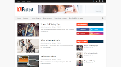 Fastest Mobile & SEO Optimized Blogger Template