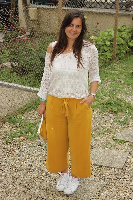 jupe culotte zara, look casual