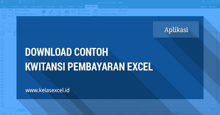 Download Contoh Kwitansi Pembayaran Excel Sederhana