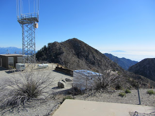 View east toward San Gabriel Peak from Mt. Disappointment