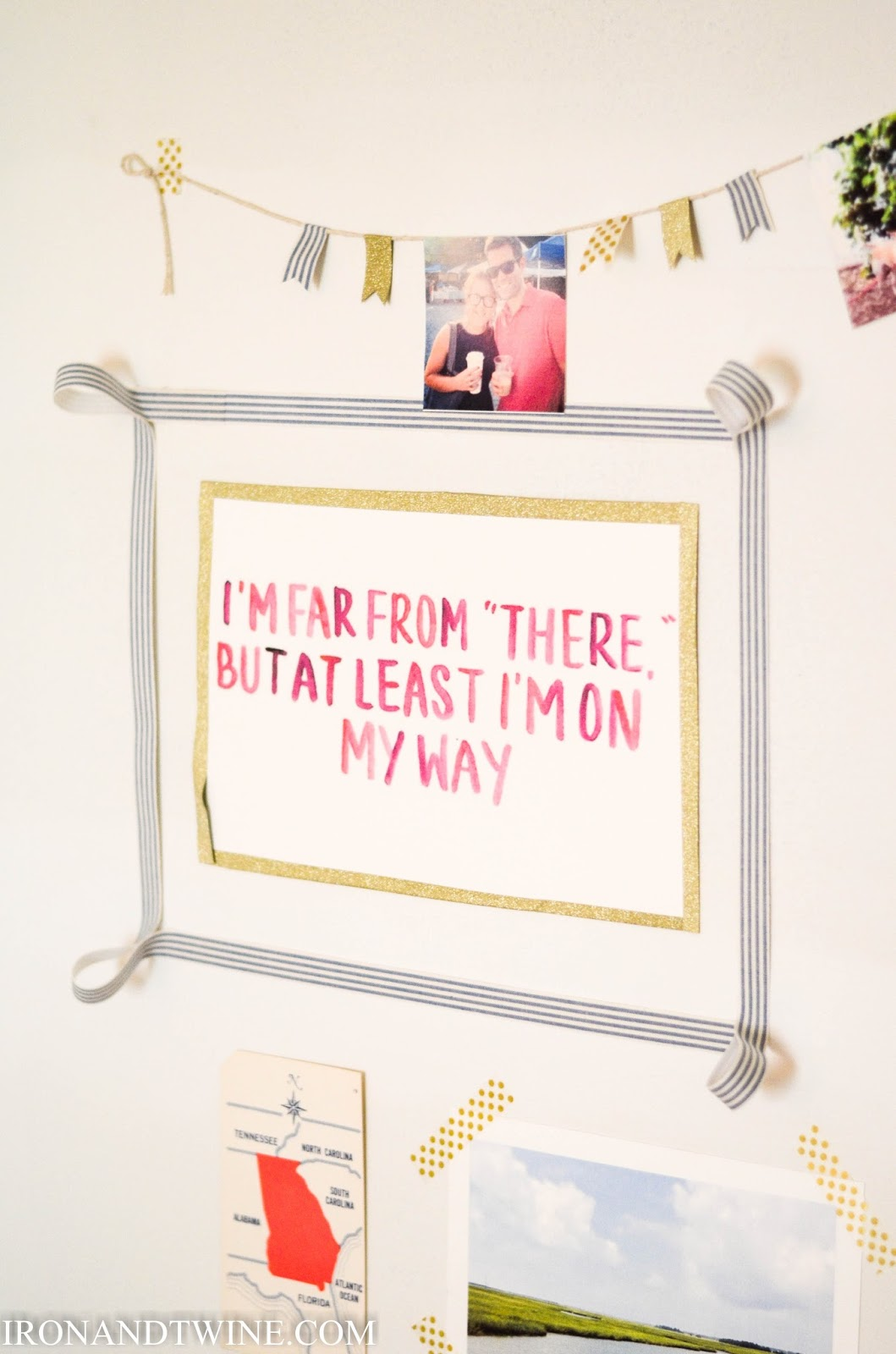 IRON & TWINE: Washi Tape Gallery Wall | Dorm Room Decor