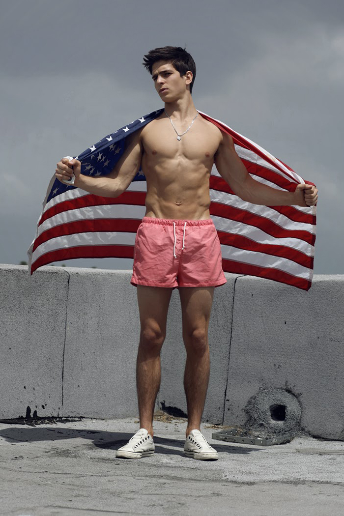 sexy-shirtless-male-model-fit-body-american-flag