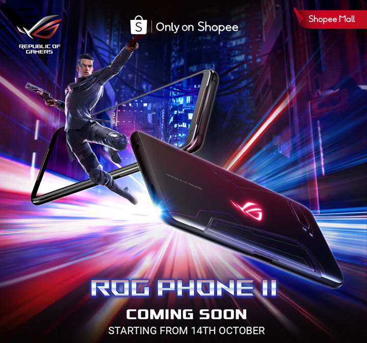 ASUS ROG Phone II Malaysia Set Mula Dijual 14 Oktober di Shopee