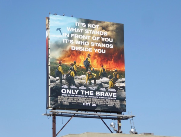 Only The Brave movie billboard