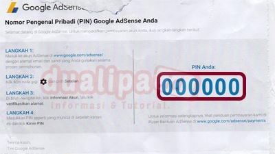 Cara Verifikasi PIN Adsense
