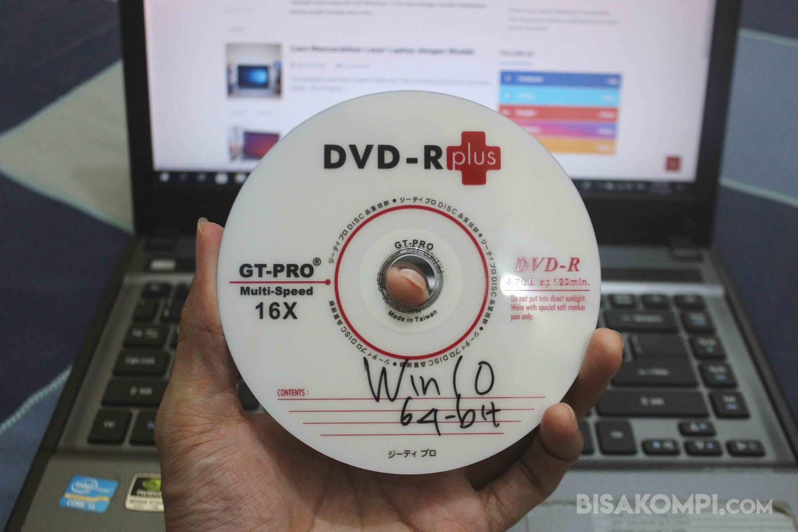 Cara Burning Windows 10 ke DVD