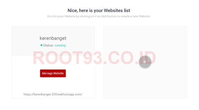 alamat website berhasil dibuat