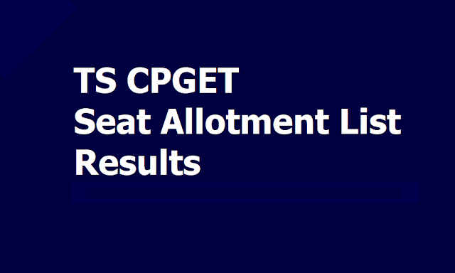 TS CPGET Seat Allotment List Results 2019, Download Seat Allotment Order from August 29