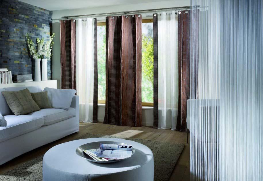 Dekorasi Ruang Tamu Dengan Desain Gorden Minimalis Modern