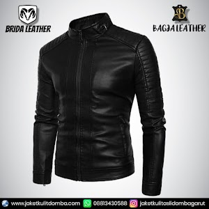 Jual Jaket Kulit Asli Garut Pria Domba Original Brida Leather B58   WA 08813430588