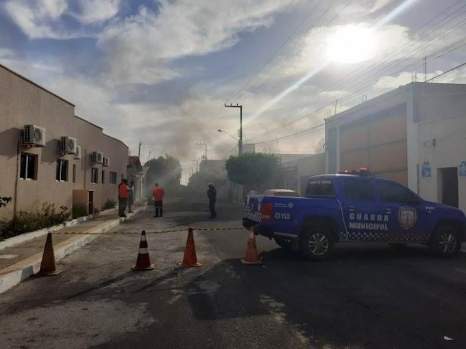Defesa Civil e Guarda Municipal apagam Incêndio em residência em Guamaré