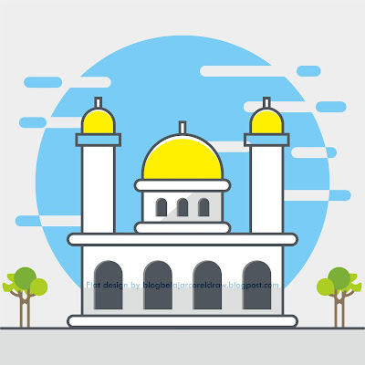 84 Gambar Kartun Masjid Hd Terbaik Gambar Kantun