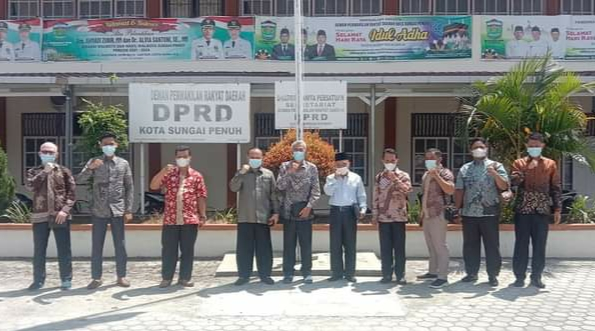 Pimpinan Bersama Bapemperda DPRD Sungai Penuh Sambut Kunjungan DPRD Batanghari