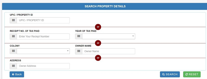 mcd property tax online payment