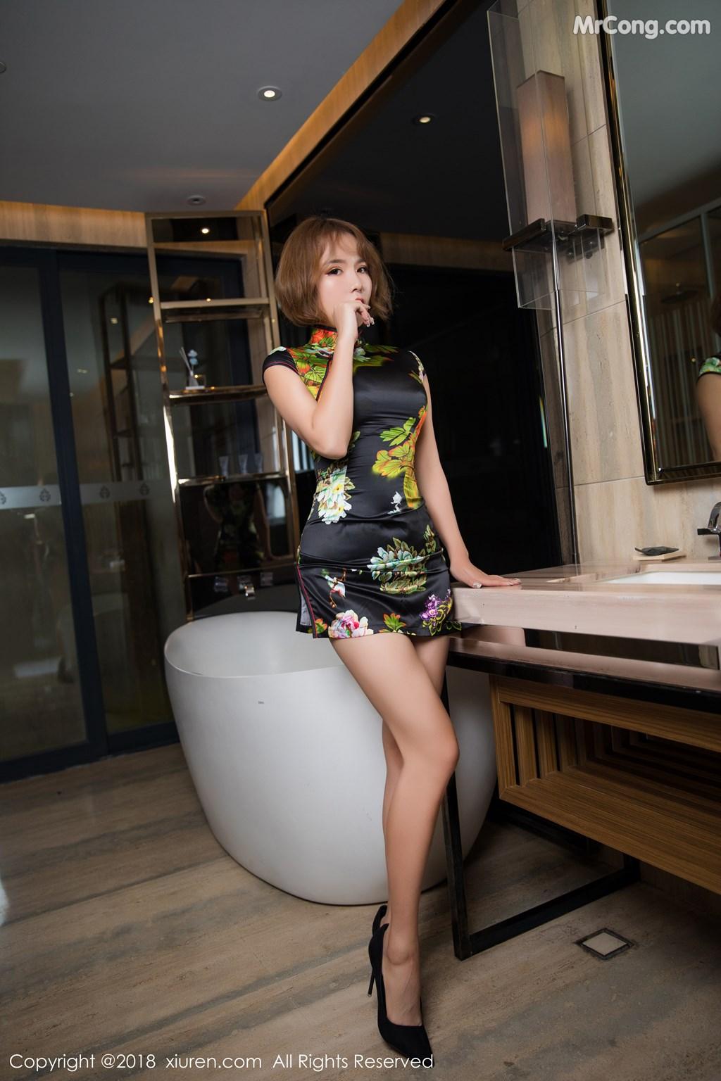 Image XIUREN-No.1264-Ya-Wen-MrCong.com-008 in post XIUREN No.1264: Người mẫu Ya Wen (雅雯) (61 ảnh)