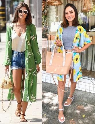 10 looks inspiração como usar kimono, Emily Ratajkowski, Jéssica Araújo