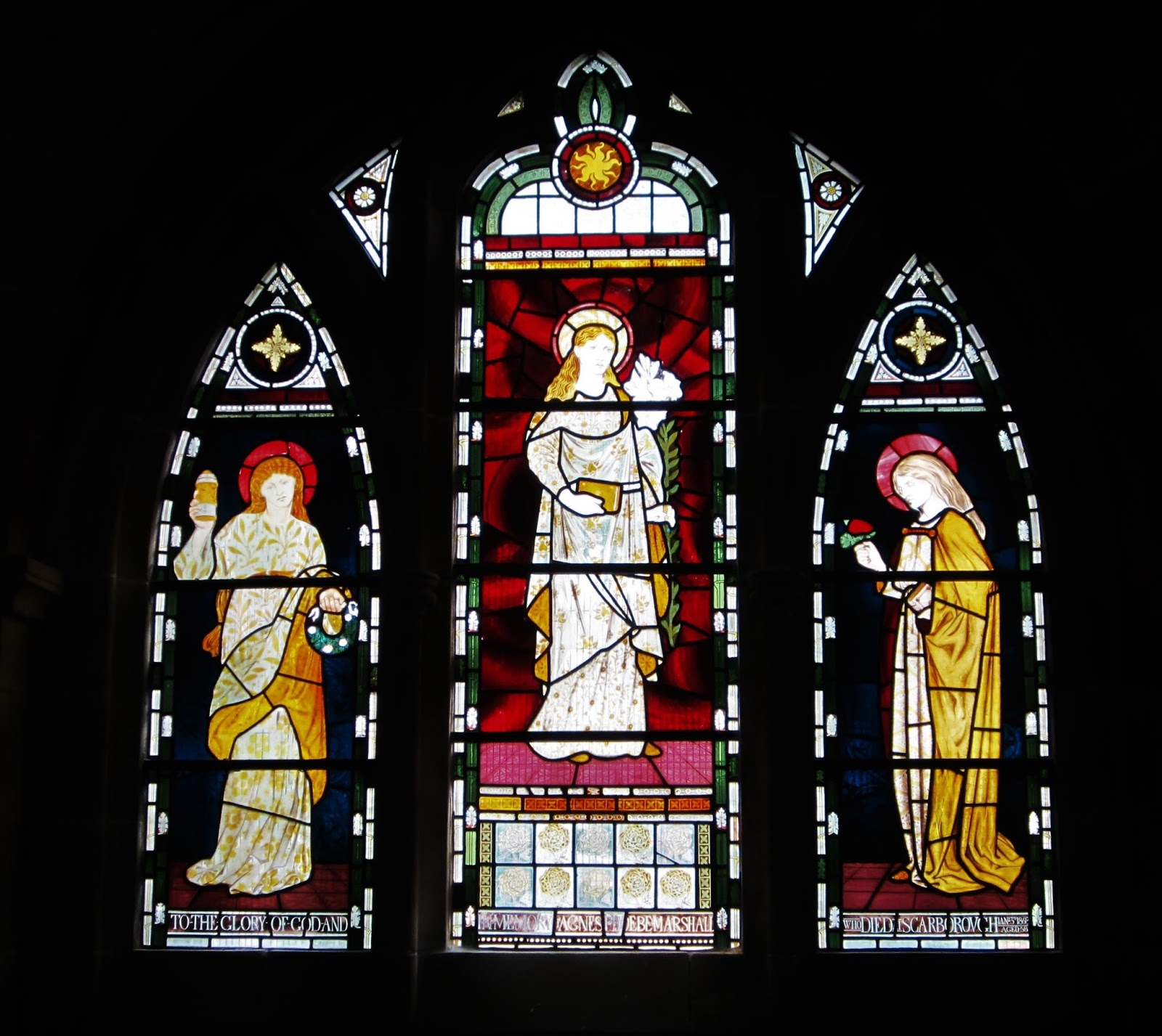 Franklin art glass studios inc clear cotswold glass 3 320 - The Three Marys Window Originally Made For St Martin S Church In Brighton But Rejected Because It Features Lizzie Siddal A Probable Suicide