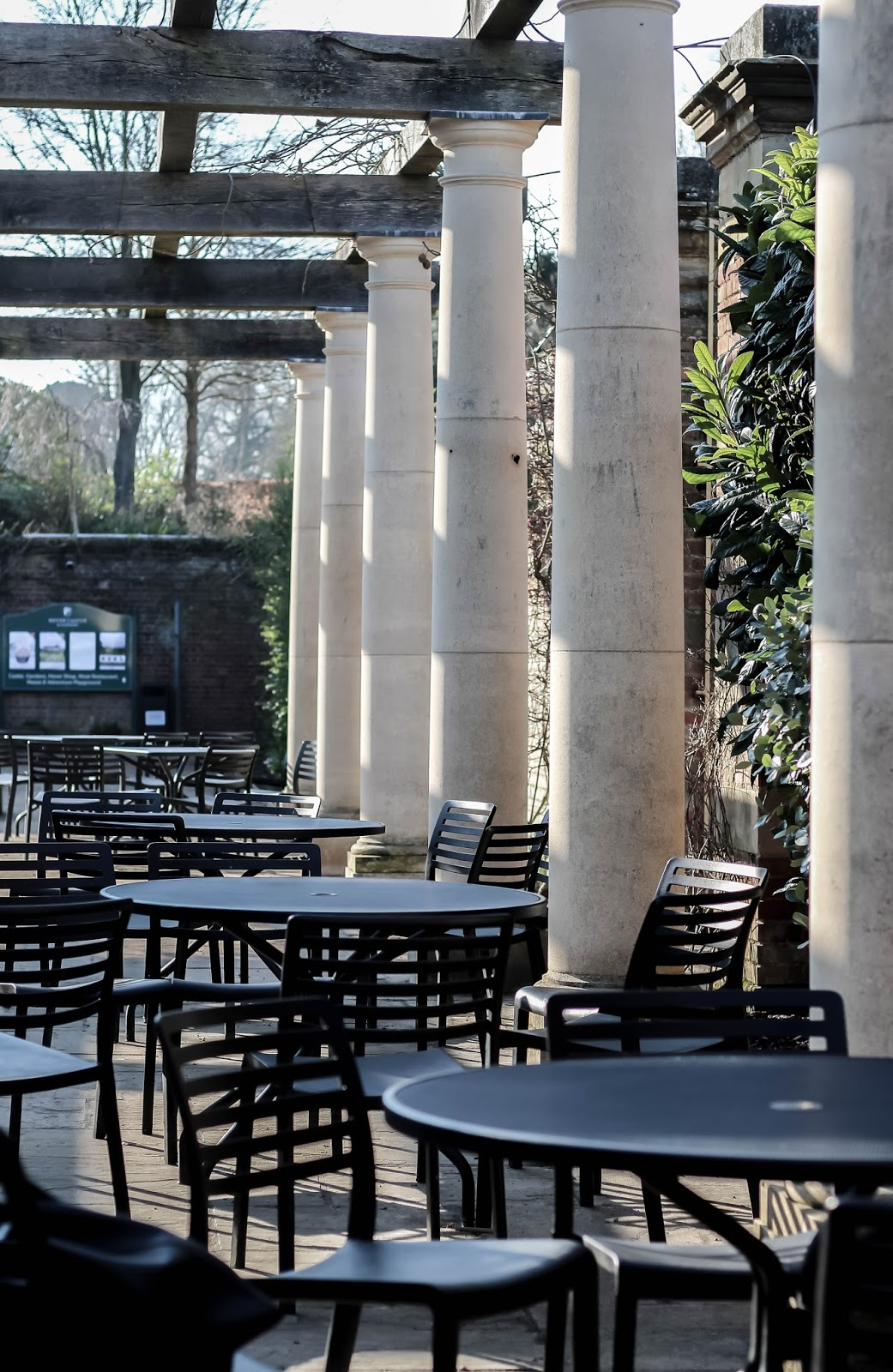 Cafe with Pillars Italianate Architecture in England
