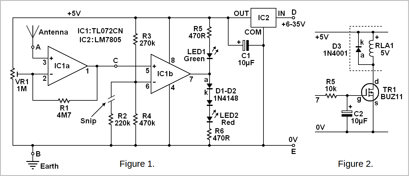 atmospheric charge monitor circuit
