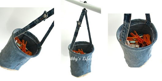 Up-cycled denim peg bag tutorial ... and why I've been absent of late.