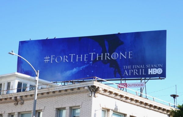 Game of Thrones final season 8 dragon billboard