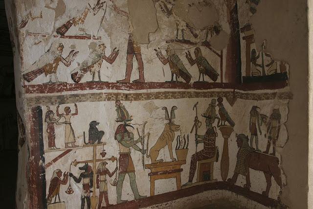 Paintings from the tomb of Petosiris at Muzawaka (XIII)