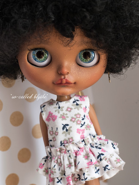 Kala OOAK custom doll blue/green eyes