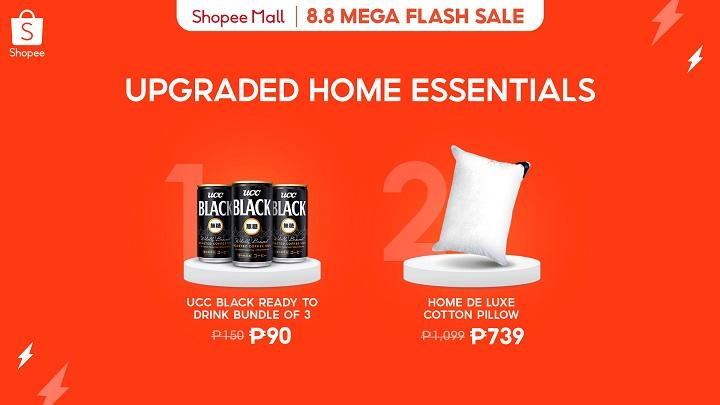 Shopee 8.8 Mega Flash Sale: Upgraded home essentials
