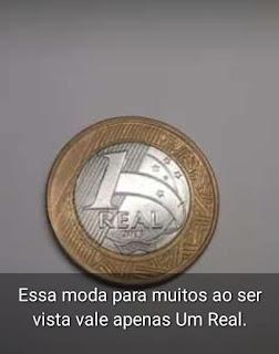 Essa moeda para muitos ao ser vista vale apenas Um Real.