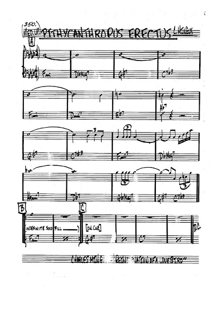Partitura Bajo Charles Mingus