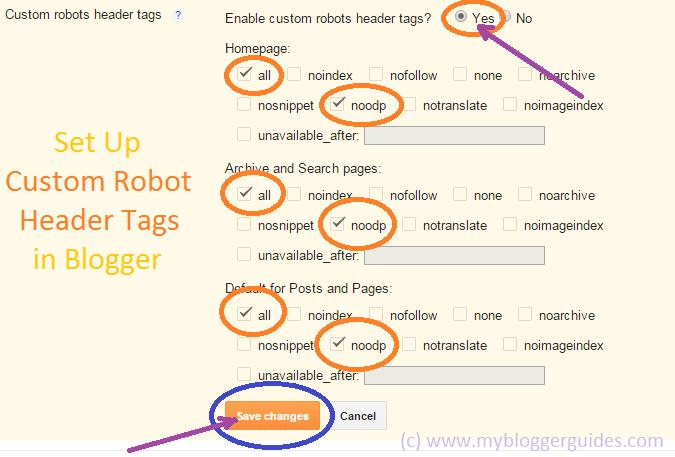 custom robots header tags, blogger header tags, custom  header tags, blogspot setting header tags, blogger setting header tags