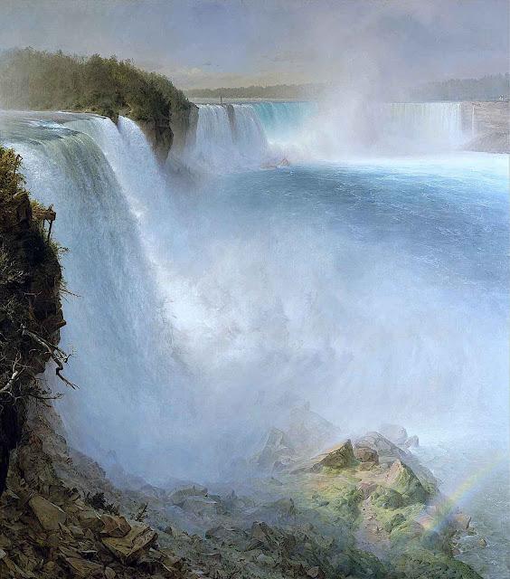 an 1867 painting of Niagara Falls by Frederic Church