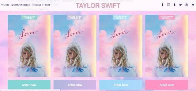 """Album Taylor Swift """"Lover"""" menjadi album dengan penjualan tertinggi 2019 dalam sehari"""