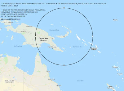 New Guinea Earthquake