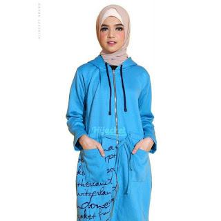 Hijacket Urbanashion Original Premium Fleece Jaket Syar'i Jaket Muslimah Rp159.000-Rp179.000