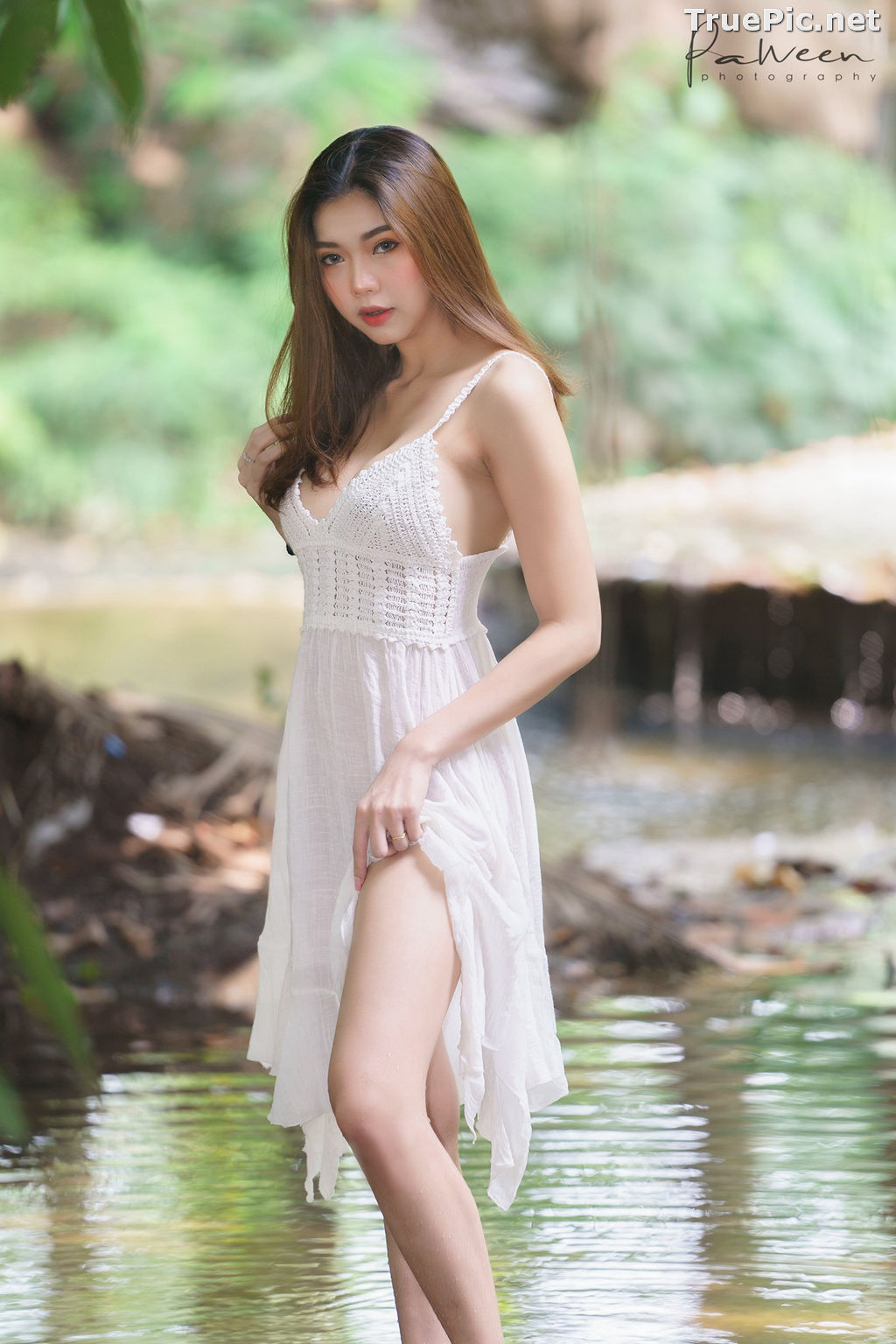Image Thailand Model - Sirirut Thananet - Beautiful Angel and Small Stream - TruePic.net - Picture-1