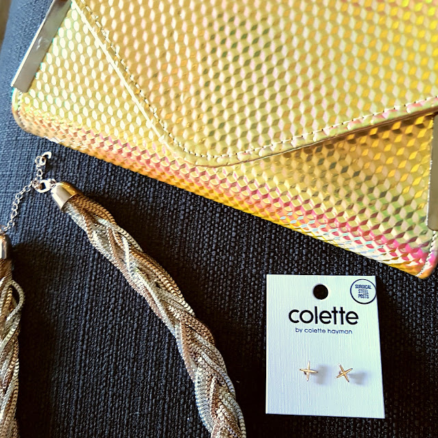 Colette clutch, necklace and earrings | Almost Posh