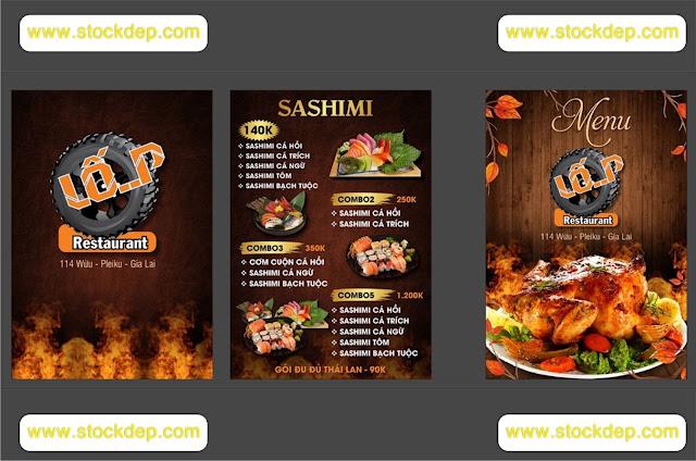 Vector menu quán ăn
