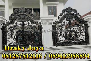 Model Pagar Tempa Klasik atau Pagar Besi Tempa untuk Rumah Mewah Klasik
