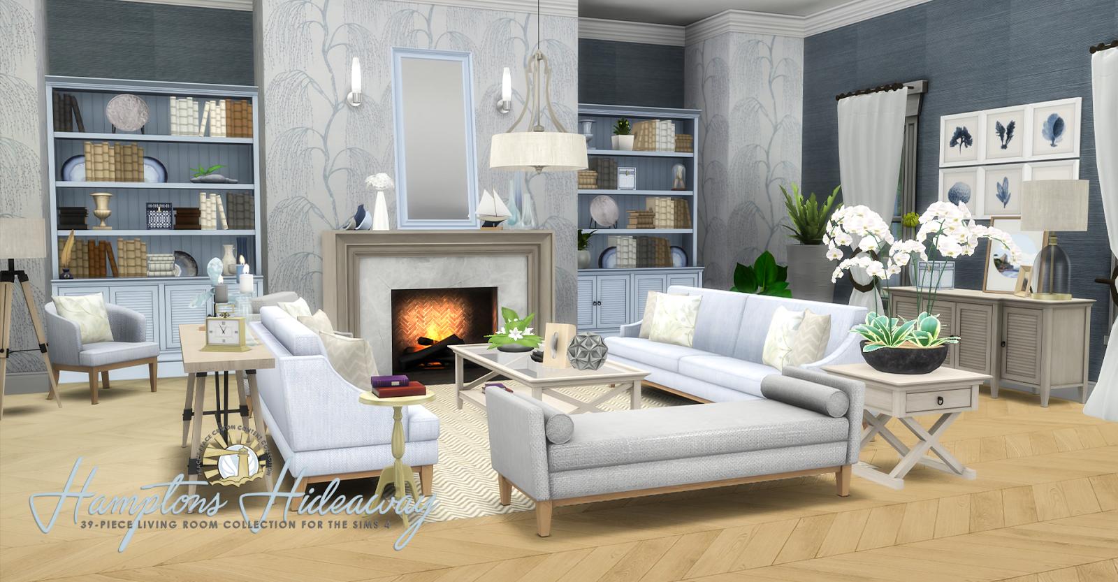 Simsational Designs: Hamptons Hideaway - Living Room Set ...