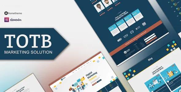 Best Marketing Solution Elementor Template kit