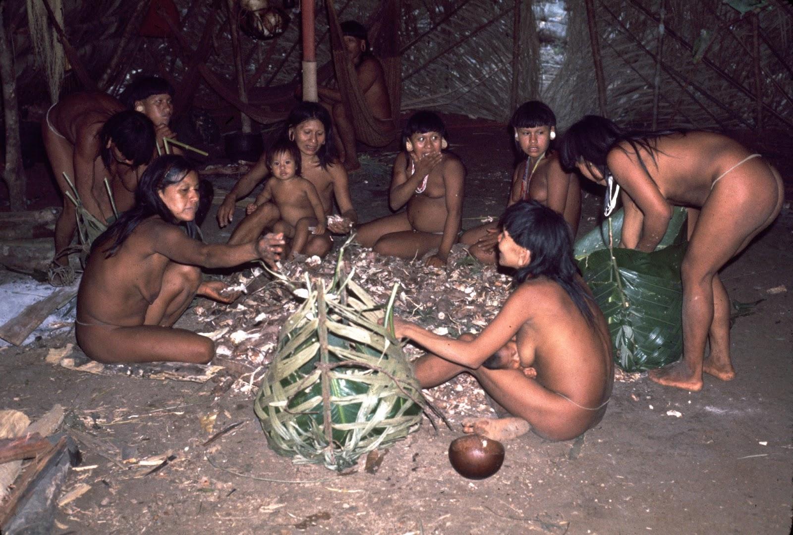 Bộ tộc Huaorani che tờ chim bằng lá cây 10